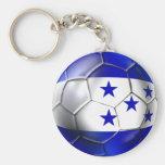 Honduras flag 5 star soccer ball futbol fans gifts basic round button keychain