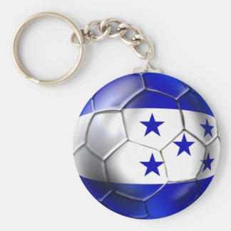Honduras flag 5 star soccer ball futbol fans gifts keychain