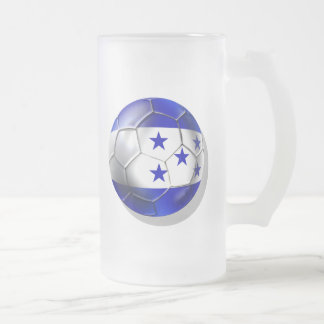 Honduras flag 5 star soccer ball futbol fans gifts coffee mug