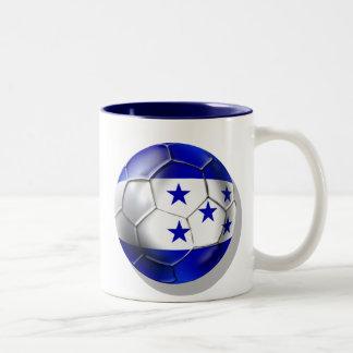 Honduras flag 5 star soccer ball futbol fans gifts Two-Tone coffee mug