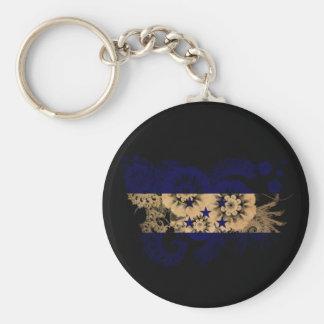Honduras Flag Basic Round Button Keychain