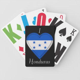 Honduras flag bicycle playing cards