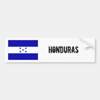 Honduras flag bumber white bumper sticker