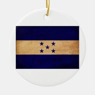Honduras Flag Ceramic Ornament