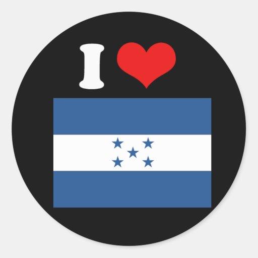 Honduras Flag Classic Round Sticker