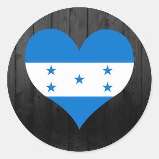 Honduras flag colored classic round sticker