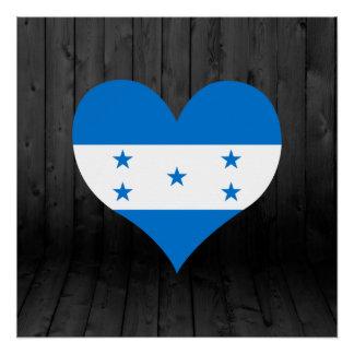 Honduras flag colored poster