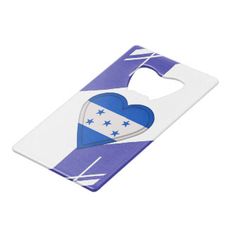 Honduras Flag Credit Card Bottle Opener