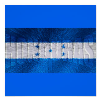 Honduras flag explosion for Hondurans Posters