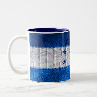 Honduras flag explosion for Hondurans Two-Tone Coffee Mug