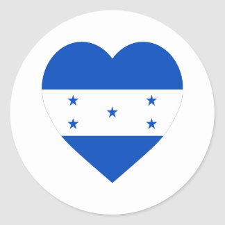 Honduras Flag Heart Classic Round Sticker