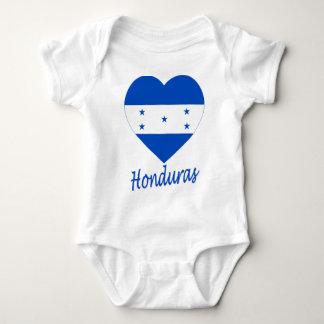 Honduras Flag Heart Infant Creeper