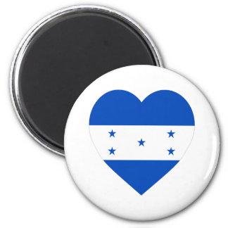 Honduras Flag Heart Refrigerator Magnet
