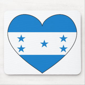 Honduras Flag Heart Mouse Pad