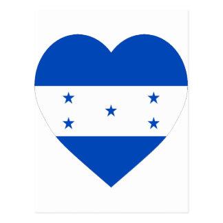 Honduras Flag Heart Post Cards