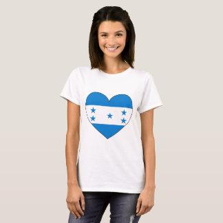 Honduras Flag Heart T-Shirt