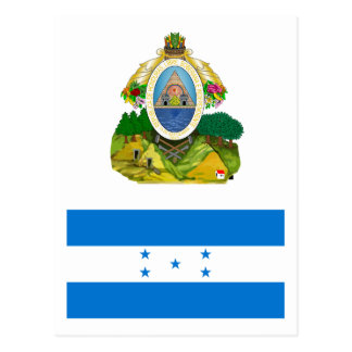 Honduras Flag HN Postcard