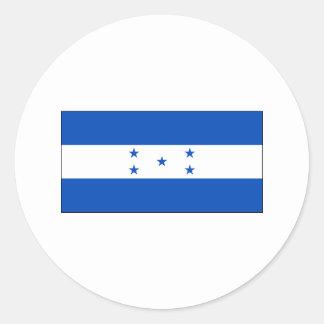 Honduras FLAG International Round Sticker
