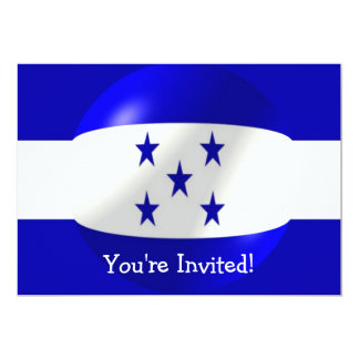 Honduras Flag Invitation For Any Occasion