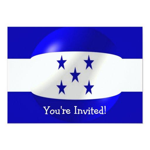 Honduras Flag Invitation For Any Occasion