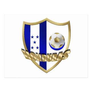 Honduras flag logo emblem La Catrachos Shield Postcard