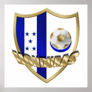 Honduras flag logo emblem La Catrachos Shield Print