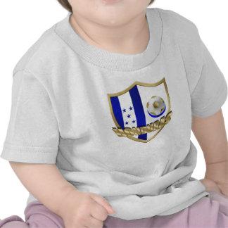 Honduras flag logo emblem La Catrachos Shield Tee Shirts