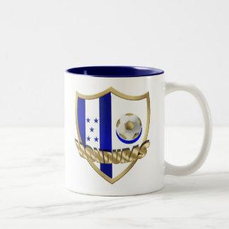Honduras flag logo emblem La Catrachos Shield Two-Tone Coffee Mug