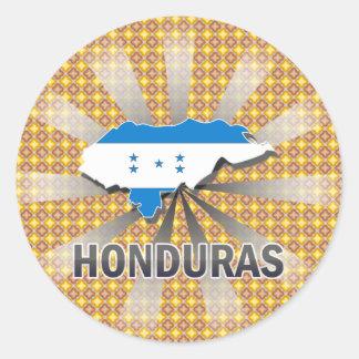 Honduras Flag Map 2.0 Classic Round Sticker
