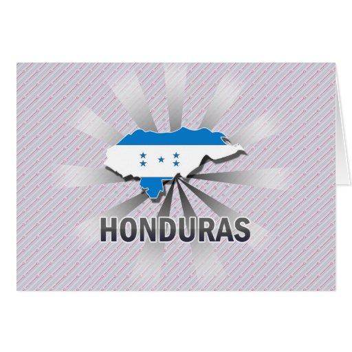 Honduras Flag Map 2.0 Greeting Card