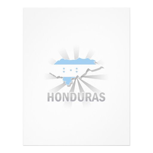 Honduras Flag Map 2.0 Letterhead Design