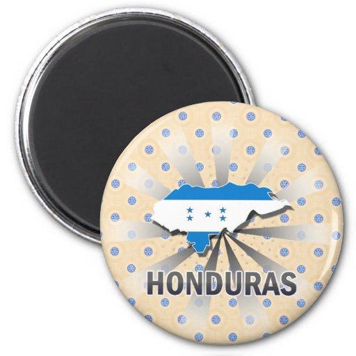 Honduras Flag Map 2.0 Fridge Magnets
