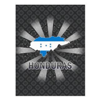 Honduras Flag Map 2.0 Postcard