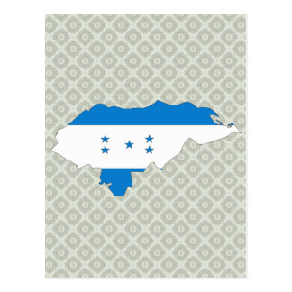 Honduras Flag Map full size Postcard