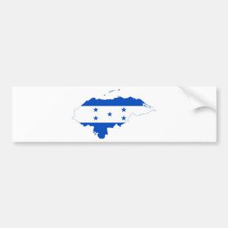 Honduras Flag Map HN Bumper Sticker