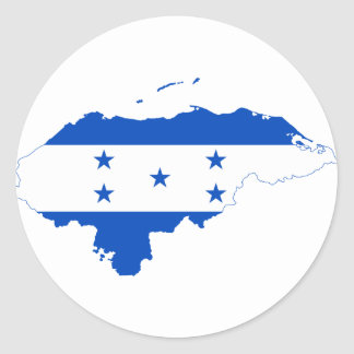 Honduras Flag Map HN Classic Round Sticker