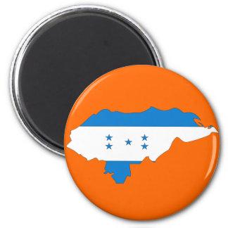 Honduras flag map magnet