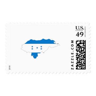 Honduras flag map stamps