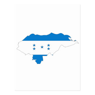 Honduras flag map postcard