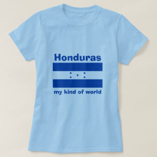 Honduras Flag + Map + Text T-Shirt