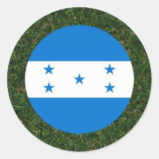 Honduras Flag on Grass Classic Round Sticker