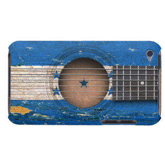 Honduras Flag on Old Acoustic Guitar iPod Touch Case-Mate Case