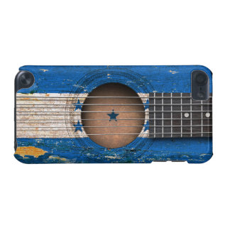 Honduras Flag on Old Acoustic Guitar iPod Touch (5th Generation) Covers