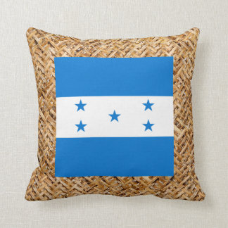 Honduras Flag on Textile themed Throw Pillow