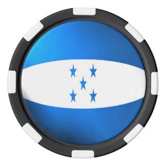 Honduras flag poker chips set