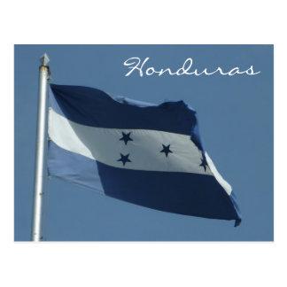 honduras flag postcard