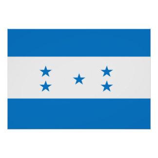 Honduras Flag Print