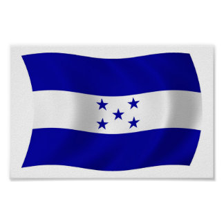 Honduras Flag Poster Print