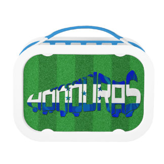 Honduras Flag Soccer Calligram Lunch Box