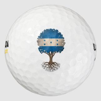 Honduras Flag Tree of Life Customizable Golf Balls